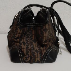 Fossil Bags - Fossil Logo Print Canvas & Leather Shoulder Bag